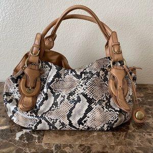 Jessica Simpson Snakeskin Print Shoulder Bag